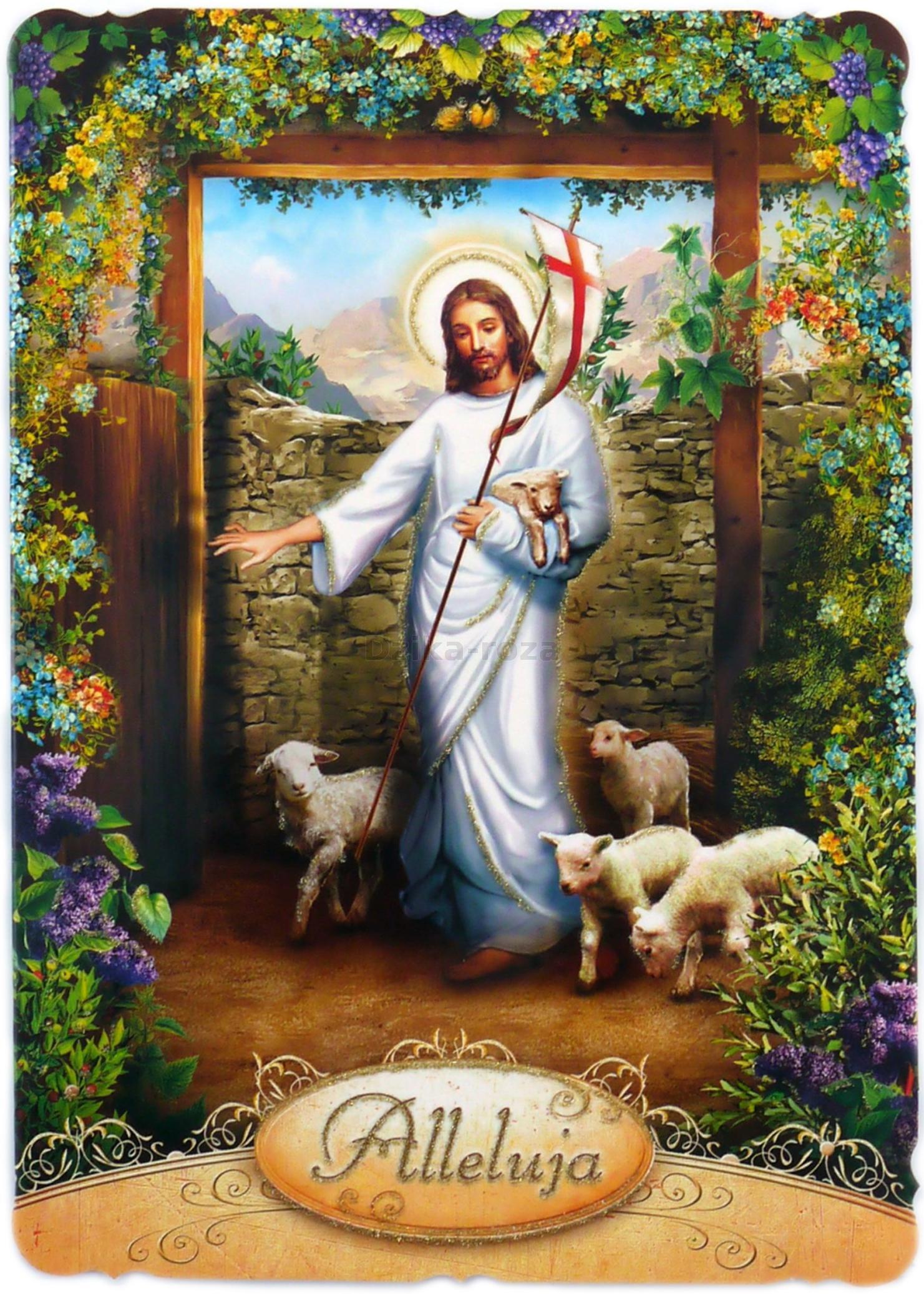 Znalezione obrazy dla zapytania kartki wielkanocne religijne