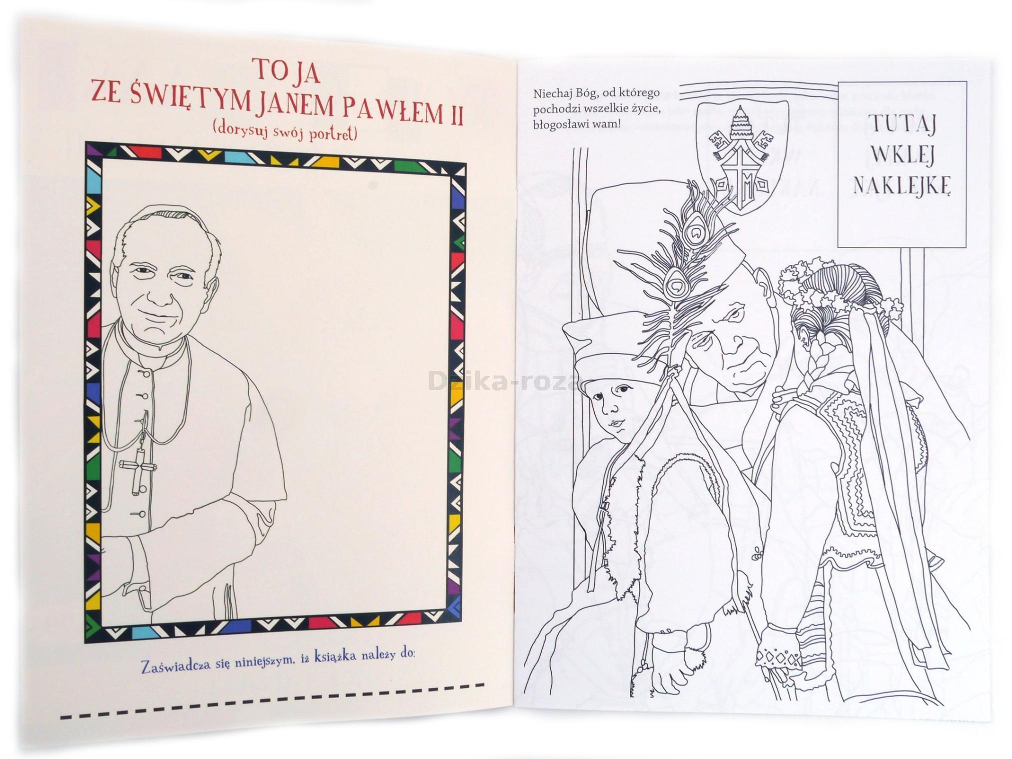 Kolorowanki Sw Jana Pawla Ii Papiez I Dzieci